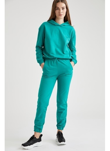Defacto –Fit Yazı Baskılı Kapüşonlu Sweatshirt Renkli